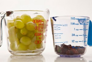 Fat melting foods - grapes vs raisins