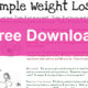 simple-weightloss-free-download-poster
